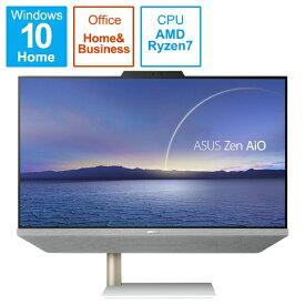 ASUS エイスース A5401W-R75700BP デスクトップパソコン Zen AiO 24 A5401 ホワイト [23.8型 /AMD Ryzen7 /メモリ:16GB /HDD:1TB /SSD:256GB /2021年4月モデル]