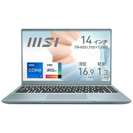 MSI エムエスアイ MODERN-14-B11MO-225JP ノートパソコン Modern 14 B11S ブルーストーン [14.0型 /intel Core i7 /SSD:1TB /メモリ:16GB /2021年4月モデル]