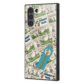 イングレム Ingrem Galaxy S21 5G /『ディズニーキャラクター』/耐衝撃ハイブリッドケース KAKU/『ドナルドダック/comic』 イングレム IQ-DGS21K3TB/DD006