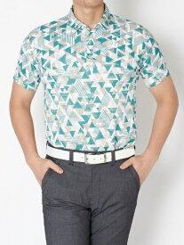 ブリヂストン BRIDGESTONE メンズ 半袖シャツ(Lサイズ/グリーン) 3GT05A