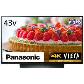 パナソニック Panasonic 液晶テレビ VIERA(ビエラ) TH-43JX850 [43V型 /4K対応 /BS・CS 4Kチューナー内蔵 /YouTube対応 /Bluetooth対応][テレビ 43型 43インチ]