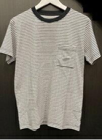 SHELTECH シェルテック メンズ レギュラー Tシャツ(Lサイズ/ボーダー ブラック×ホワイト)SH-001