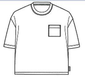 SHELTECH シェルテック 子供用 ワイドポケットTシャツ(150サイズ/ホワイト)SHL-03KS
