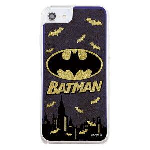 イングレム Ingrem iPhone SE(第2世代) / 8 / 7 / 6s / 6 / 『バットマン』/ラメ グリッターケース/バットマンロゴ IJ-WP76LG1G/BM5