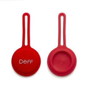 DEFF ディーフ AirTag用シリコーン製ストラップ 「STRAP for AirTag」(1個入) チェリーレッド DCS-ATSS21RD