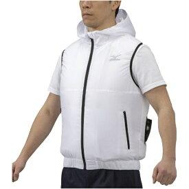 ミズノ mizuno メンズ エアリージャケット ベスト(Lサイズ/ホワイト) C2JE1102【ファン・バッテリー別売り】