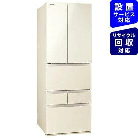 東芝 TOSHIBA 冷蔵庫 FHシリーズ ラピスアイボリー GR-T510FH-ZC [6ドア /観音開きタイプ /509L]《基本設置料金セット》