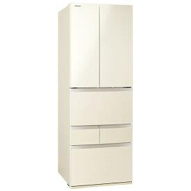 【2021年05月31日発売】 東芝 6ドア冷蔵庫 ラピスアイボリー GR-T460FH(ZC) [6ドア /観音開きタイプ /462L]《基本設置料金セット》