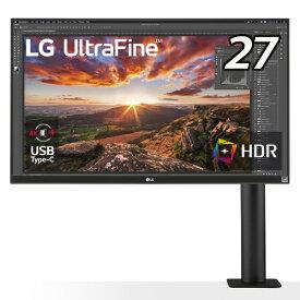 LG USB-C接続 PCモニター Ergo ブラック 27UN880-B [27型 /ワイド /4K(3840×2160)]