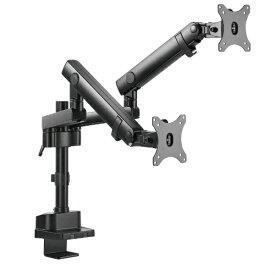 ARCHISS アーキス モニターアーム [2画面 /〜32インチ] クランプ/グロメット方式 ブラック AS-MABM01D