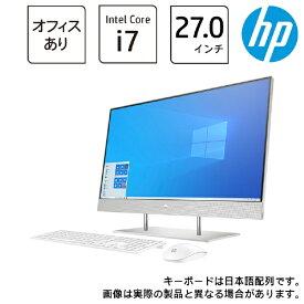 HP エイチピー デスクトップパソコン HP 27-dp0000 AiO 1V7J1AA-AAAB [27型 /intel Core i7 /メモリ:16GB /HDD:2TB /SSD:512GB /2021年5月モデル]
