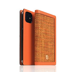 ROA ロア iPhone 12 mini 5.4インチ対応 Edition Calf Skin Leather Diary オレンジ