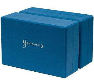 ヨガワークス YOGA WORKS ヨガブロックA【2個セット】(アース/約23cm×15cm×7.6cm) YW-E321-C124