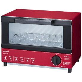 日立 HITACHI オーブントースター レッド HTO-C1A-R