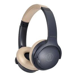 オーディオテクニカ audio-technica ブルートゥースヘッドホン ネイビーベージュ ATH-S220BT NBG [リモコン・マイク対応 /Bluetooth]【rb_cpn】