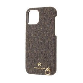 MICHAEL KORS マイケルコース MICHAEL KORS - Slim Wrap Case Signature with Hand Strap - Magsafe for iPhone 12/12 Pro [ Brown ] MKSHBRWWPIP2061 ブラウン