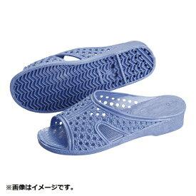 アスカ商事 婦人シャワーサンダル 前あき M ブルー <SSV4004>