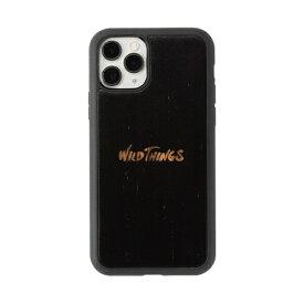 HAMEE ハミィ [iPhone 11 Pro専用]WILD THINGS × kibaco Wood Case BLACK 663-916612