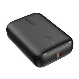 AUKEY オーキー モバイルバッテリー Basix Mini ブラック 10000mAh 20W PD対応 [USB-C×1/USB-A×1]出力[USB-C×1]入力 Black PB-N83S-BK [2ポート /充電タイプ]