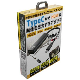 AREA エアリア 映像変換アダプタ+HDMIケーブル [USB-C オス→メス HDMI /USB-Cメス給電] MS-DPAH2