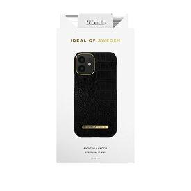 IDEAL OF SWEDEN アイディールオブスウェーデン iPhone12 mini ATELIER CASE 20SS NIGHTFALL CROCO IDACSS20-I2054-212 ブラック