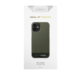 IDEAL OF SWEDEN アイディールオブスウェーデン iPhone12 mini ATELIER CASE 20AW METAL WOODS IDACAW20-2054-235 グリーン