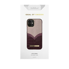 IDEAL OF SWEDEN アイディールオブスウェーデン iPhone12 mini ATELIER CASE 20AW LOTUS SNAKE IDACAW20-2054-234 パープル