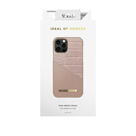 IDEAL OF SWEDEN アイディールオブスウェーデン iPhone12/12 Pro ATELIER CASE 20SS ROSE SMOKE CROCO IDACSS20-I2061-202 ピンク
