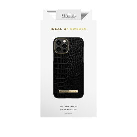 IDEAL OF SWEDEN アイディールオブスウェーデン iPhone12/12 Pro ATELIER CASE 20AW NEO NOIR CROCO IDACAW20-2061-236 ブラック