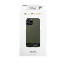 IDEAL OF SWEDEN アイディールオブスウェーデン iPhone12/12 Pro ATELIER CASE 20AW METAL WOODS IDACAW20-2061-235 グリーン