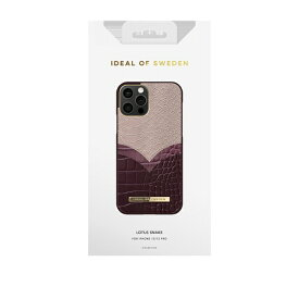 IDEAL OF SWEDEN アイディールオブスウェーデン iPhone12/12 Pro ATELIER CASE 20AW LOTUS SNAKE IDACAW20-2061-234 パープル