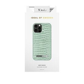 IDEAL OF SWEDEN アイディールオブスウェーデン iPhone12/12 Pro ATELIER CASE 21SS MINT CROCO IDACSS21-I2061-261 グリーン
