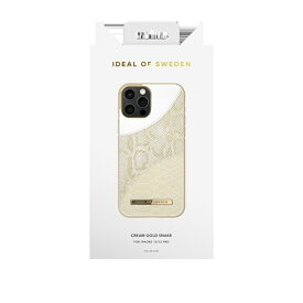 IDEAL OF SWEDEN アイディールオブスウェーデン iPhone12/12 Pro ATELIER CASE 21SS CREAM GOLD SNAKE IDACSS21-I2061-270 ゴールド
