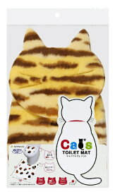 サンコー THANKO 吸着Catsトイレマット+猫顔シート 茶トラ KX-01