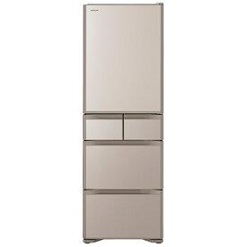 日立 HITACHI 冷蔵庫 Sタイプ クリスタルシャンパン R-S40R-XN [5ドア /右開きタイプ /401L]《基本設置料金セット》