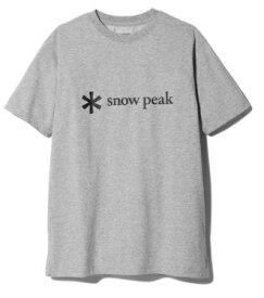 スノーピーク snow peak 男女兼用 Tシャツ・カットソー Printed Logo Tshirt L M.Grey SPS-TS-21SU00104MG