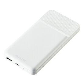 エレコム ELECOM モバイルバッテリー/10000mAh/PD対応/20W/マグネット DE-C32-10000WH