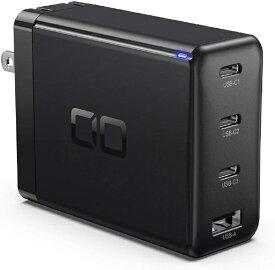 CIO シーアイオー AC - USB充電器 ノートPC・タブレット対応 100W [4ポート:USB-Cx3+USB-A /USB Power Delivery対応 /Quick Charge対応] ブラック CIO-G100W3C1A-BK