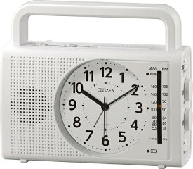 リズム時計 RHYTHM 防災クロック 4RQ001-003 白(白) 4RQ001-003