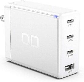 CIO シーアイオー AC - USB充電器 ノートPC・タブレット対応 100W [4ポート:USB-Cx3+USB-A /USB Power Delivery対応 /Quick Charge対応] ホワイト CIO-G100W3C1A-WH