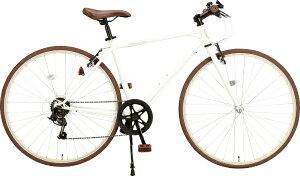 オオトモ OTOMO 700C型 クロスバイク Pee-Ka-Boo(ホワイト/外装6段変速) 57291【組立商品につき返品不可】 【代金引換配送不可】