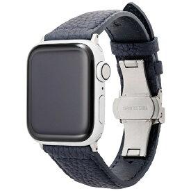 坂本ラヂヲ German Shrunken-calf Watchband for AW(40/38mm) ブルー GWBSC-AW02NVY