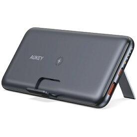 AUKEY オーキー ワイヤレスモバイルバッテリー Basix Pro 10000mAh 20W PD対応 [10Wワイヤレス/USB-C×1/USB-A×1]出力[USB-C×1]入力 Black PB-WL02S [2ポート /充電タイプ]