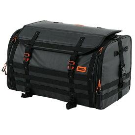 ドッペルギャンガー バイク用キャンプツーリングシートバッグ (バイク専用・防水ツーリングバッグ) 容量60〜80L 防水インナーバッグ・ショルダーベルト・固定ベルト付き ブラック DBT523-BK