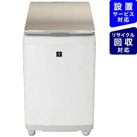 【2021年08月05日発売】 シャープ SHARP 縦型洗濯乾燥機 ゴールド系 ES-PW11F-N [洗濯11.0kg /乾燥6.0kg /ヒーター乾燥(排気タイプ) /上開き]