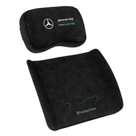 noblechairs ノーブルチェアーズ noblechairs ゲーミングチェア 交換用 メモリーフォーム クッションセット (ネックピロー + ランバーサポート) Mercedes-AMG Petronas Formula One Team Edition noblechairs ブラック NBL-SP-PST-012