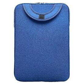 ブルー Blue ノートパソコン対応[〜11.6インチ] クッションケース ハンドルタイプ M ブルー M-CU02BL