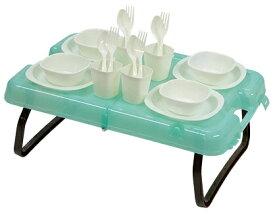 キャプテンスタッグ CAPTAIN STAG ピクニックテーブル&食器セット UT-0056