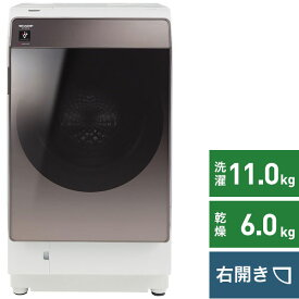 シャープ SHARP ドラム式洗濯乾燥機 ブラウン系 ES-WS14-TR [洗濯11.0kg /乾燥6.0kg /ヒートポンプ乾燥 /右開き][ドラム式 洗濯機 11kg]
