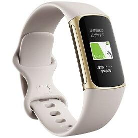 Fitbit フィットビット 【Suica対応】Fitbit Charge5 GPS搭載フィットネストラッカー L/Sサイズ ルナホワイト FB421GLWT-FRCJK